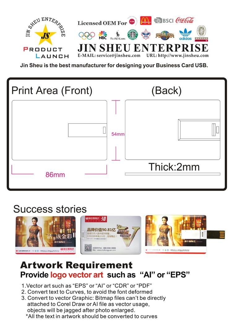 Usb flashdrive credit card gift and premiums items manufacturer jin sheu promotional business card with usb reheart Gallery