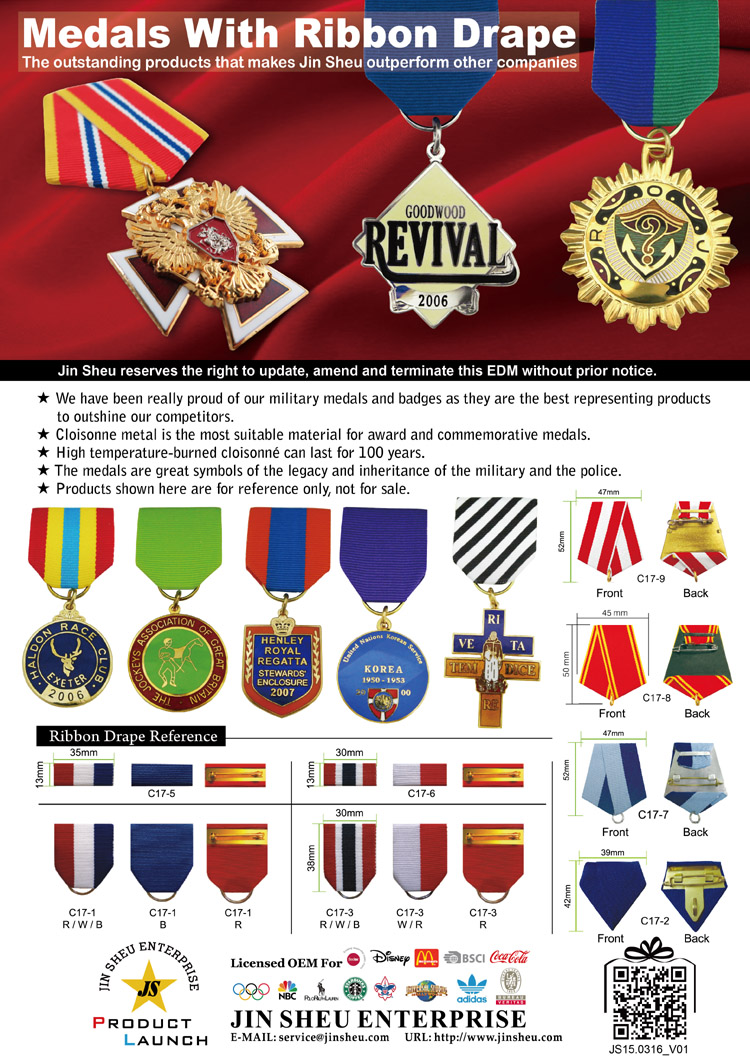 medal decoration award ribbon drapes